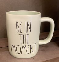 Rae Dunn - BE IN THE MOMENT - LL GREEN Ceramic Coffee Mug