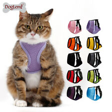 Mew Cat Harness Lightweight, Adjustable Kitty Vest, Escape Proof, meow meow