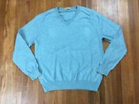 J Crew Mens Cashmere Blend Sweater Sz Medium V Neck Pullover Sweatshirt
