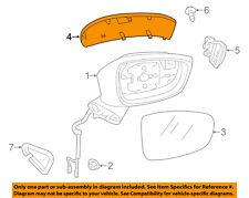 MAZDA OEM 14-15 6 Door Side Rear View-Mirror Cover Cap Trim Right GHP9691N1A51