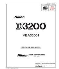 Nikon D3200 DSLR Service Repair Manual