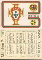 R@R@ FIGURINA PANINI COLLEZIONE MUNCHEN 74-PORTUGAL- NEW/EDICOLA/PERFECT-N.394