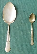 Antique Danish Silver Plate - 2 Spoons - Large & Small - Lot of 2 Spoons - 1925