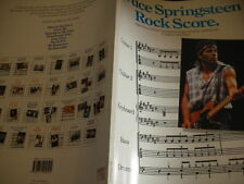 PARTITIONS songbook Bruce Springsteen Rock Score 1987