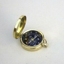 """BRASS COMPASS WITH COVER 1.75"""" ~ CAMPING ~ POCKET COMPASS ~ NAVIGATION ~ SCOUT"""