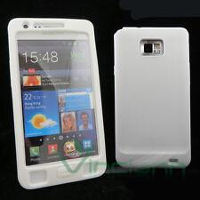 Custodia SKIN in silicone BIANCO per Samsung Galaxy S2 I9100 S2 Plus I9105 SII