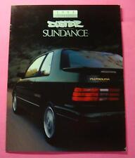 1993 PLYMOUTH DUSTER/SUNDANCE SHOWROOM SALE BROCHURE ..20- PAGES