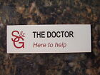 """Doctor WHO Dr Who Name Tag From """"Closing Time"""" Episode"""