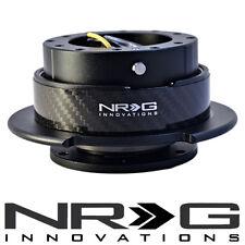 NRG 2.5 Gen Steering Wheel Quick Release Hub - Black / Carbon Fiber CF Ring