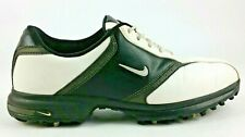 Nike Golf Heritage Men's Shoes Cleats Size 8.5 White Black 418624-101