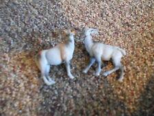 "Lot of 2 3"" Tall Plastic Wild Goat Animal Toys"