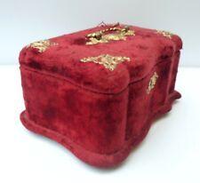 Belle et Ancienne BOITE À BIJOUX XIXème - Napoléon III - Velours rouge Coffret