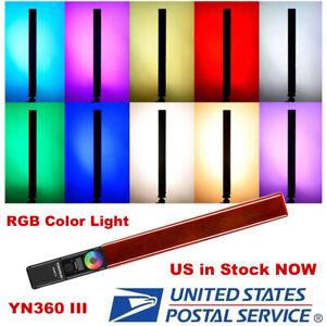 YONGNUO YN360III LED RGB Light Handheld Stick Remote Control Tube 3200K-5500K