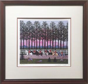 """Jane Wooster Scott """"Foxy Gives em' the slip"""" Hand Signed CUSTOM FRAMED ART Horse"""