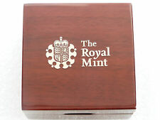 2014 - 2018 Royal Mint Deluxe Wooden Gold Proof Quarter Sovereign Coin Box Only