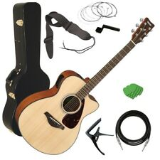 Yamaha FSX800C Acoustic Electric Guitar - Natural STAGE ESSENTIALS BUNDLE