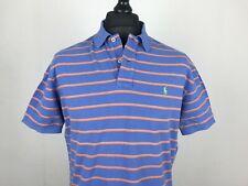 Polo by Ralph Lauren Striped Polo Shirt Men's Size L Blue Orange 100% Cotton Top
