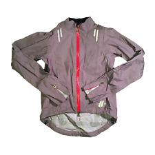 Men's Hincapie Edge eVent Cycling Water/Windproof Rain Jacket, Gray, Size S EUC