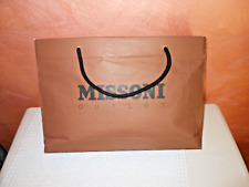 BORSA BUSTA CARTA MISSONI ORIGINALE - PAPER GIFT SHOPPING BAG MADE IN ITALY