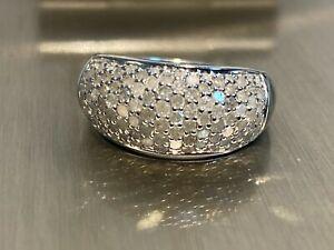 925 Silber Ring HIGHLIGHT HIER > Diamant Besatz < 110 Diamanten / Ring  Gr. 19