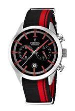 Relojes de pulsera de tela/cuero con cronógrafo