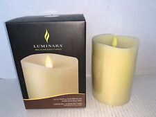 "Luminara Flameless Candle - 3.5"" x 5""Dia. Classic Pillar - Ivory Vanilla Scented"