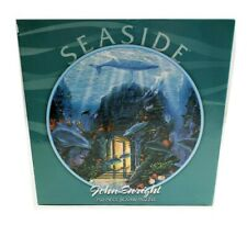 """Puzzle 750 Piece Round - Seaside by John Enright Dolphins Ocean Fish 24"""" New"""