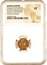 Roman Emperor Julian Ii Coin Ngc Certified Vf,With Story,Certificate