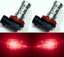 LED 50W H11 Red Two Bulbs Fog Light Replace JDM Xenon Color Show Use Lamp