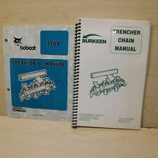 Bobcat T108 Trencher Owner Operation Maintenance Operator Chain Parts Manual