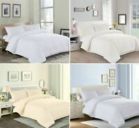Luxury 100% (Fame) Cotton Duvet Quilt Cover + Pillowcase Bedding Set All Sizes