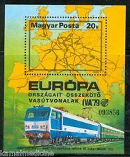 Hungary 1979 MNH SS, Train, Railways, Europa