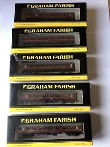 5 X G. Farish n gauge coaches Boxed