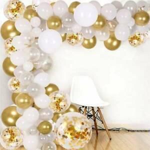 100PC White Balloon Arch Set Birthday Wedding Baby Shower Ballon Kit Party Decor