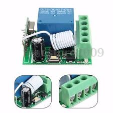 433MHz 1 Channel Receiver Wireless Relay RF Remote Control Switch Module DC12V