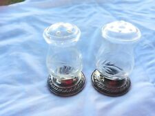 Vintage Sterling Silver Quaker Hurricane Salt Pepper Shakers #703 22666 WEighted