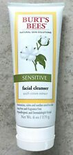 NEW Burts Bees Facial Cleanser for Sensitive Skin with Cotton Extract 6 Oz.
