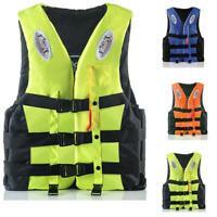Kids Adult Life Jacket Fishing Watersport Kayak Ski Buoyancy Aid Sailing Vest~