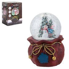 Christmas Light Up Musical Snow Globe Battery 100mm - Snowman