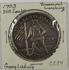 C284 German States, Brunswick-Luneburg, AR 24 Mariengros of Georg Ludwig, 1703 D