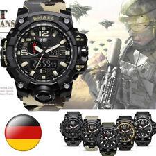 Outdoor LED Sportuhr Wasserdicht Digitaluhr Militär Armbanduhr Analog SMAEL