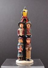 "Vintage Dickens Carolers Victorian Ceramic Sculpture Figurine Box 12 1/4"" P10"