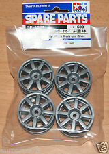 Tamiya 51334 M-Chassis Flat 8-Spoke Wheels 4 Pcs. (Silver) (M03/M04/M05/M06/M07)