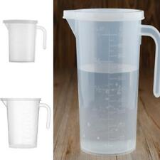2x PP Measuring Jug Cup with Lid Graduated Cooking Bakery Lab Kitchen