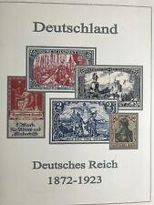 Vordruckblätter Briefmarken Deutsches Reich, passend für Lindner, farbig