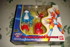Armor Digivolving Veemon Flamedramon Digimon Adventure 02 Action Figure Bandai