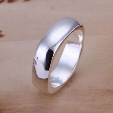 Fashion 925Sterling Solid Silver Jewelry Square Rings Men Women R004