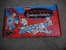 1958 VINTAGE REMCO GIANT WHEEL COWBOYS 'N INDIANS In Original Box (s4)