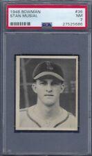 1948 BOWMAN NO. 36 STAN MUSIAL ROOKIE CARD PSA 7 NEAR MINT WELL CENTERED