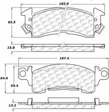 Ceramic Disc Brake Pad Set-Disc Front Centric 103.00520